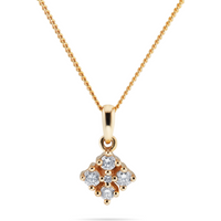 shop for 9ct Yellow Gold 0.10ct Diamond Shaped Pendant at Shopo