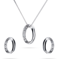 shop for 9ct White Gold 0.05cttw Diamond Illusion Open Oval Set at Shopo