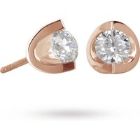 18ct Rose Gold 0.70ct Tension Set Diamond Earrings