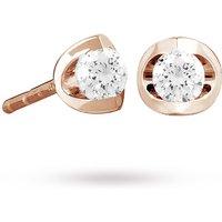 18ct Rose Gold 0.50ct Tension Set Diamond Earrings