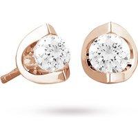 18ct Rose Gold 0.40ct Tension Set Diamond Earrings