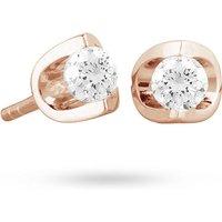 18ct Rose Gold 0.30ct Tension Set Diamond Earrings