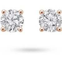 18ct Rose Gold 0.75ct Brilliant Cut Stud Earrings