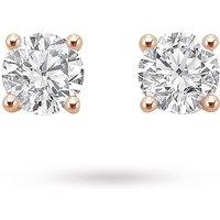 18ct Rose Gold 0.50ct Brilliant Cut Stud Earrings