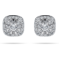 shop for Mappin & Webb Masquerade 18ct White Gold 0.61cttw Diamond Stud Earrings at Shopo