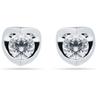 9ct White Gold 0.30ct Tension Set Goldsmiths Brightest Diamond Earrings