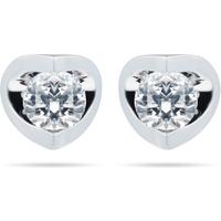 18ct White Gold 0.40ct Tension Set 88 Facet Diamond Earrings