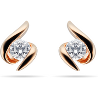 9ct Rose Gold 0.15ct Wrapped In Love Goldsmiths Brightest Diamond Earrings