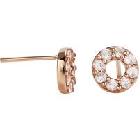9ct Rose Gold Morganite Circle Stud Earrings