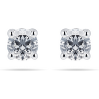 shop for Mappin & Webb 18ct White Gold 1.00cttw Diamond Stud Earrings at Shopo
