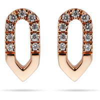 shop for Harmony 18ct Rose Gold 0.10cttw Diamond Stud Drop Earrings at Shopo