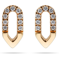 shop for Harmony 18ct Yellow Gold 0.10cttw Diamond Stud Drop Earrings at Shopo