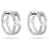 shop for Harmony 18ct White Gold 0.25cttw Diamond Huggy Hoop Earrings at Shopo