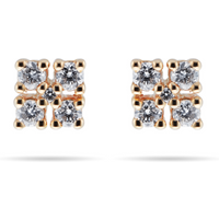 shop for 9ct Yellow Gold 0.15cttw Diamond Shaped Stud Earrings at Shopo