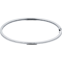 Mappin and Webb Violetta 18ct White Gold 1.07cttw Diamond Full Pave Bangle