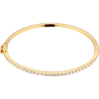 18ct Yellow Gold 1.08ct Diamond Bangle