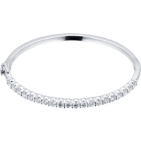 18ct White Gold 2.50ct Diamond Bangle