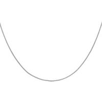 "9ct White Gold 60cm (24"") Curb Chain 1mm Width"