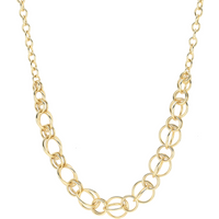shop for 9ct Yellow Gold Graduated Circle Necklace at Shopo