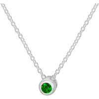 shop for Silver May Green Cubic Zirconia Pendant at Shopo
