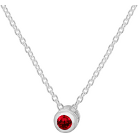 shop for Silver July Red Cubic Zirconia Pendant at Shopo