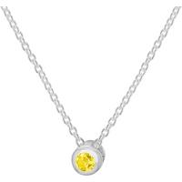 shop for Silver November Yellow Cubic Zirconia Pendant at Shopo