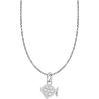 shop for Silver Pisces Star Sign Pendant at Shopo