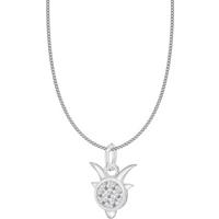 shop for Silver Capricorn Star Sign Pendant at Shopo