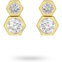 shop for 9ct Yellow Gold Double Hexagon Stud Earrings at Shopo