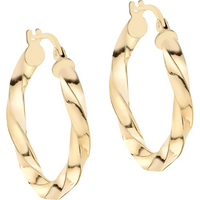 9ct Gold 23mm Creole Hoop Earrings