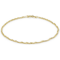 9ct Yellow Gold 30 Twist Curb Chain Bracelet