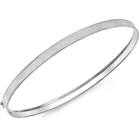9ct White Gold 4mm Stardust Bangle