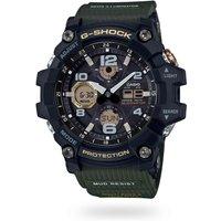 Casio GWG-100-1A3ER Mens G-Shock Solar Mud Resist Resin Strap Watch, Green/Grey