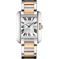 Cartier Tank Anglaise, Large Model, 18K pink gold and steel