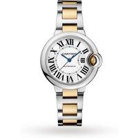 shop for Ballon Bleu de Cartier watch, 33 mm, 18K yellow gold, steel at Shopo