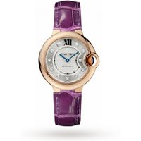 Ballon Bleu de Cartier watch, 33 mm, 18K rose gold, diamonds, leather