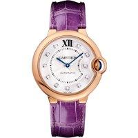 shop for Ballon Bleu de Cartier watch, 36 mm, 18K pink gold, leather, diamonds at Shopo