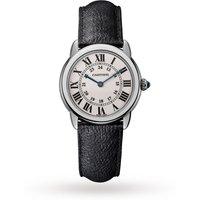 Ronde Solo de Cartier watch, 29mm, steel, leather
