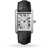 Cartier Montre Tank Solo, XL model, steel, leather
