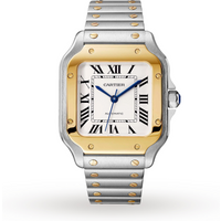 Santos de Cartier watch, Medium model, automatic, yellow ...