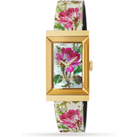 shop for Gucci Floral Mother Of Pearl Dial G Frame Ladies Watch at Shopo