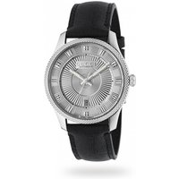 Gucci Steel and Silver Guilloche Dial Mens Watch