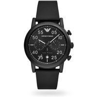 shop for Mens Luigi Chronograph Black Strap Watch AR11133 at Shopo