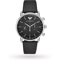 shop for Armani Aviator Black Leather and Dial Gents Watch AR11143 at Shopo