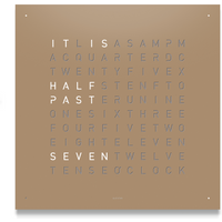QLOCKTWO Classic Steel Powder Coated Clock - Hazelnut