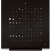 QLOCKTWO Touch Metal Table Clock - Deep Black