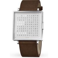 QLOCKTWO 35mm Fine Steel Vintage Brown Wristwatch