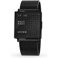 QLOCKTWO 35mm Black Steel Wristwatch