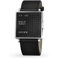 QLOCKTWO 35mm Pure Black Wristwatch