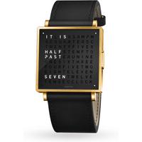 QLOCKTWO 35mm Gold Black Wristwatch